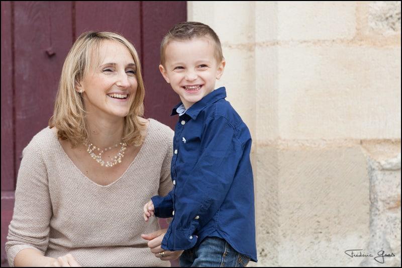 photo d'une maman avec son fils