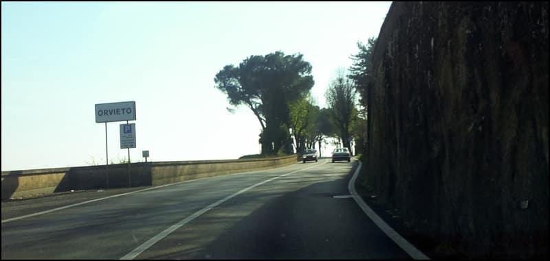 route vers orvieto