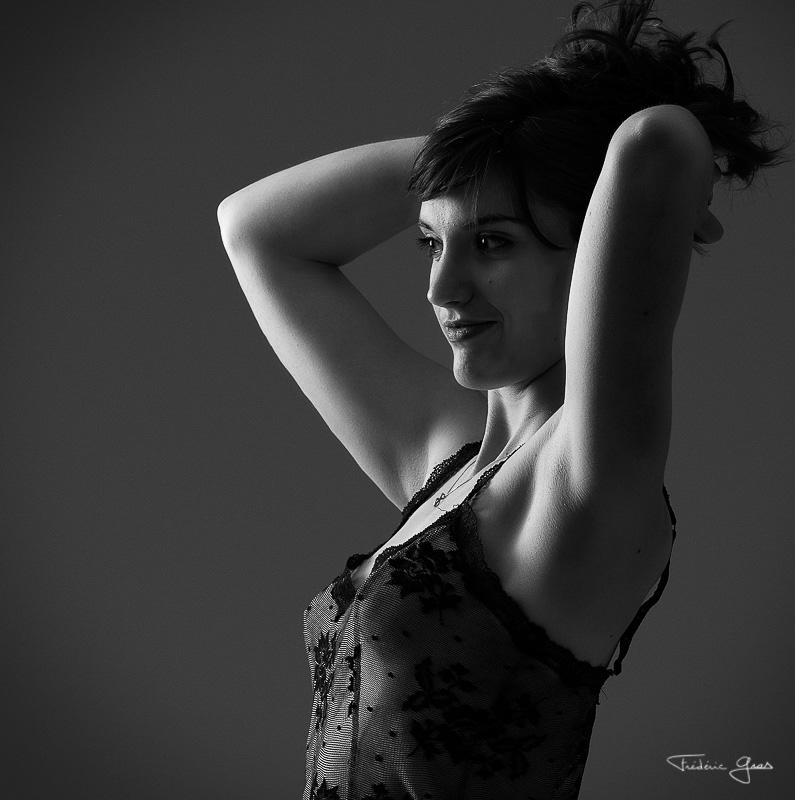 portrait de femme en nuisette