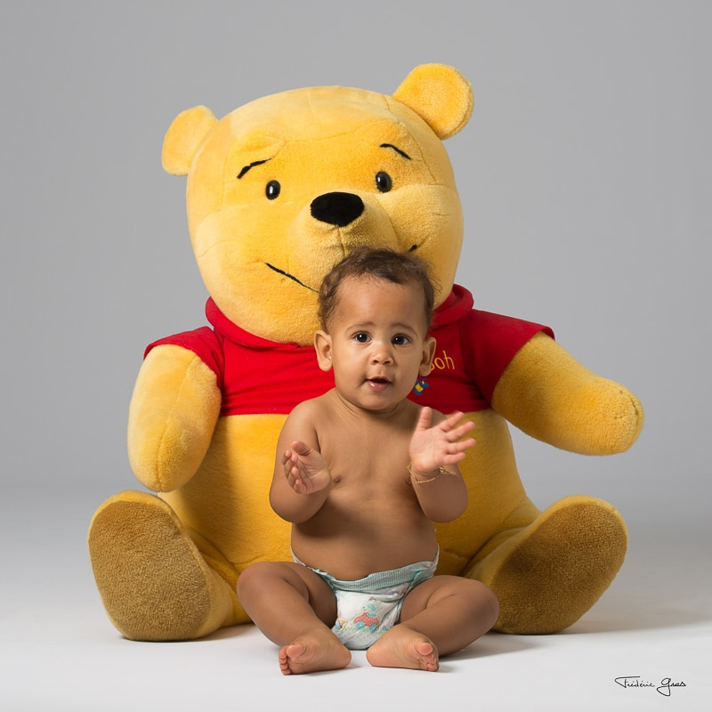 photo enfant avec winnie l'ourson