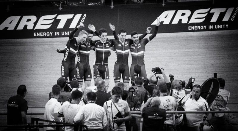 Equipe de France championne d'Europe cyclisme sur piste