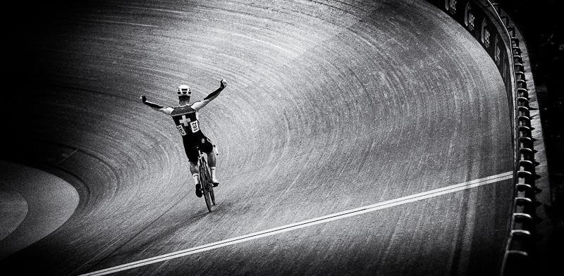 photographe de cyclisme sur piste