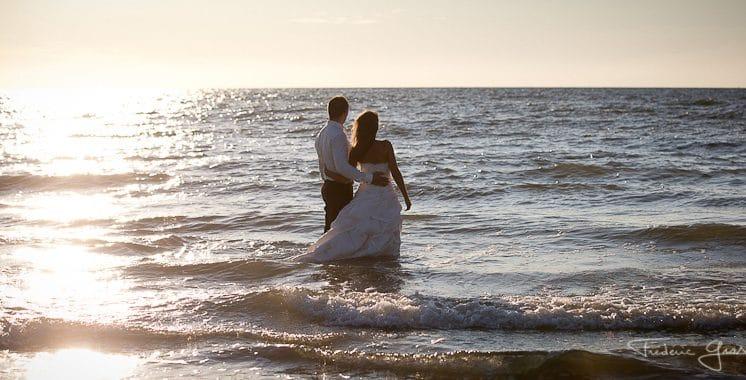 photo mariage à la mer