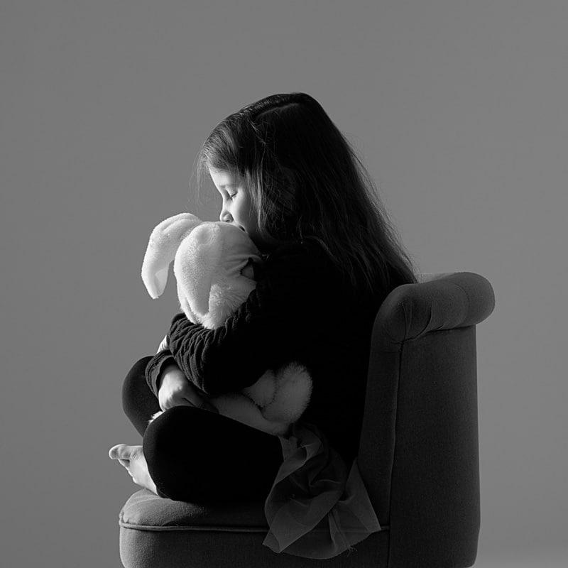 photo enfant avec doudou