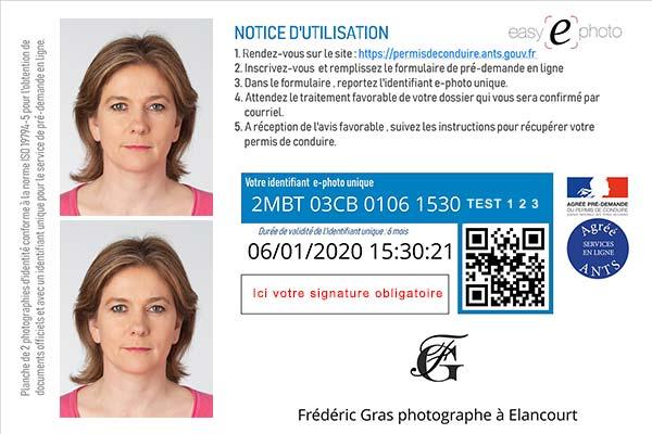 photo numérique ANTS permis de conduire