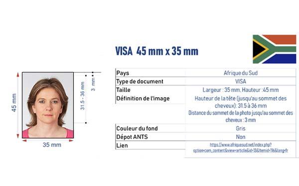 identité visa Afrique du Sud