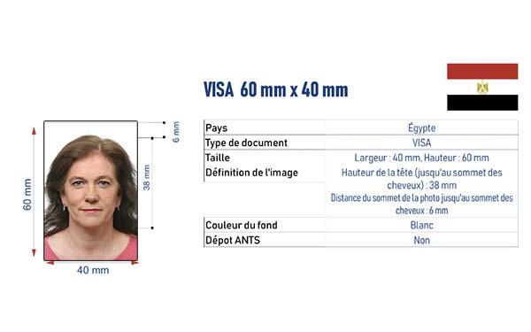 photo identité visa Egypte