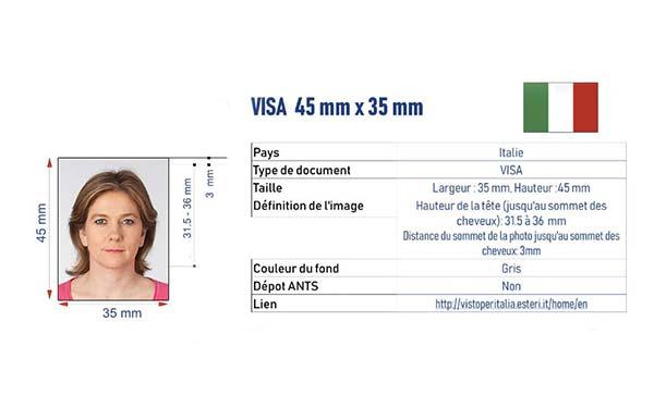 identité visa Italie