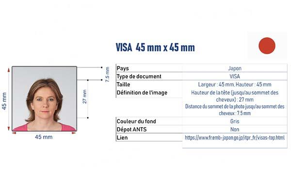 photographe identité visa japon