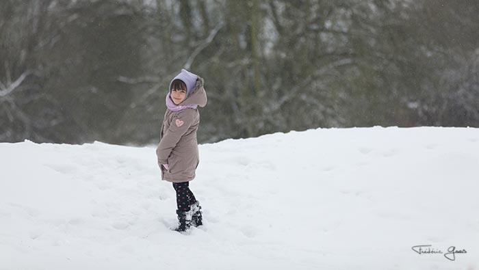 photographie sous la neige